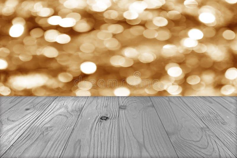 Julferiebakgrund med den tomma trädäcktabellen över w arkivbild