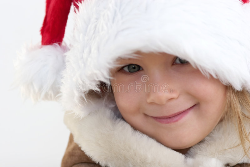 julflicka arkivfoton