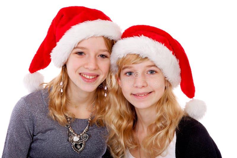 julflickahatt två arkivfoton
