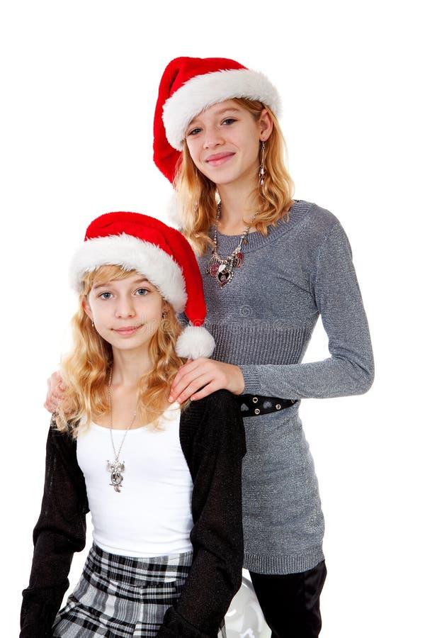 julflickahatt två royaltyfria bilder