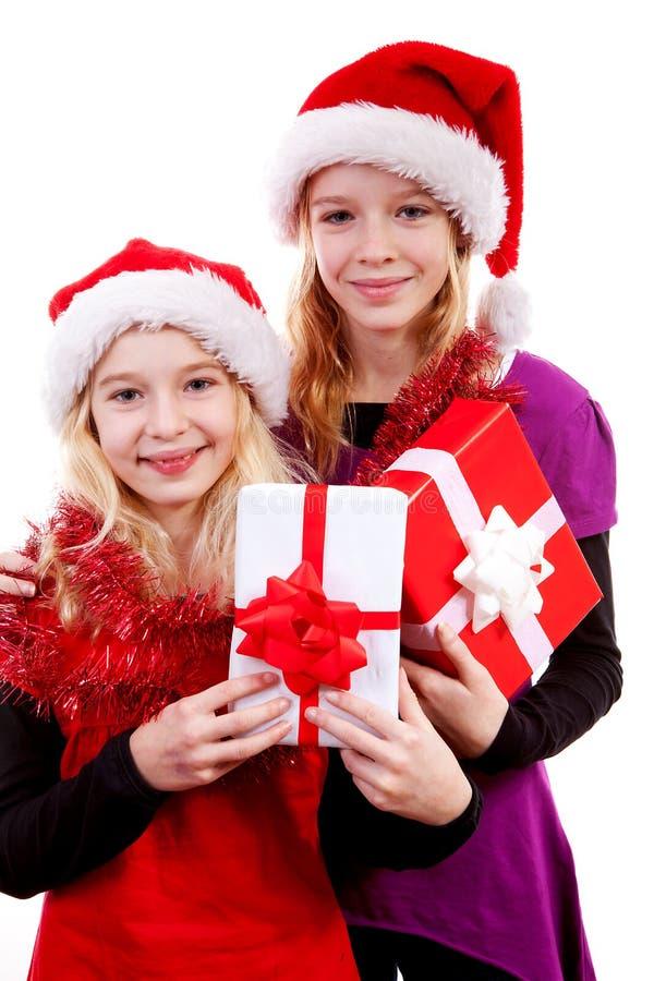 julflickahatten presenterar två arkivfoto