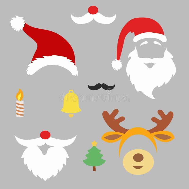 Julfotobås och scrapbooking vektoruppsättning royaltyfri illustrationer
