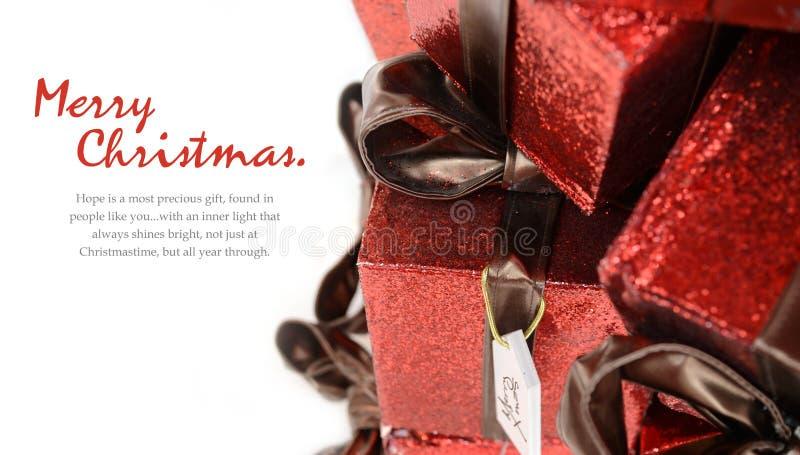 Julgåvakort fotografering för bildbyråer