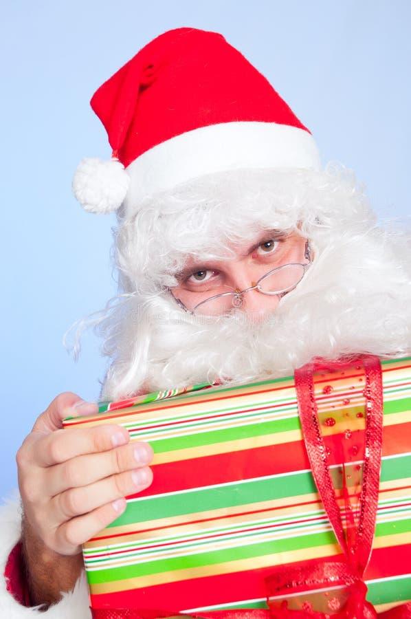julgåvasanta tema royaltyfri bild