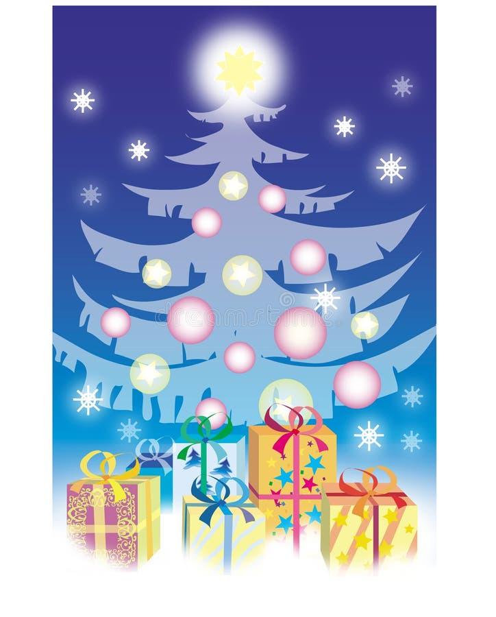 julgåvor royaltyfri illustrationer