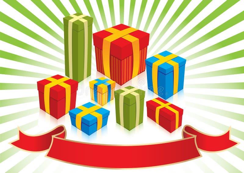 Julgåvor - illustration vektor illustrationer