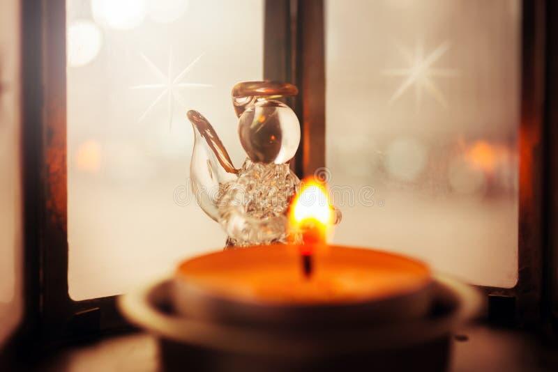 Julgarnering med ängel royaltyfri foto