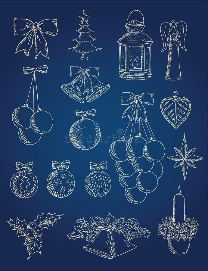 julgarneringobjekt royaltyfri illustrationer