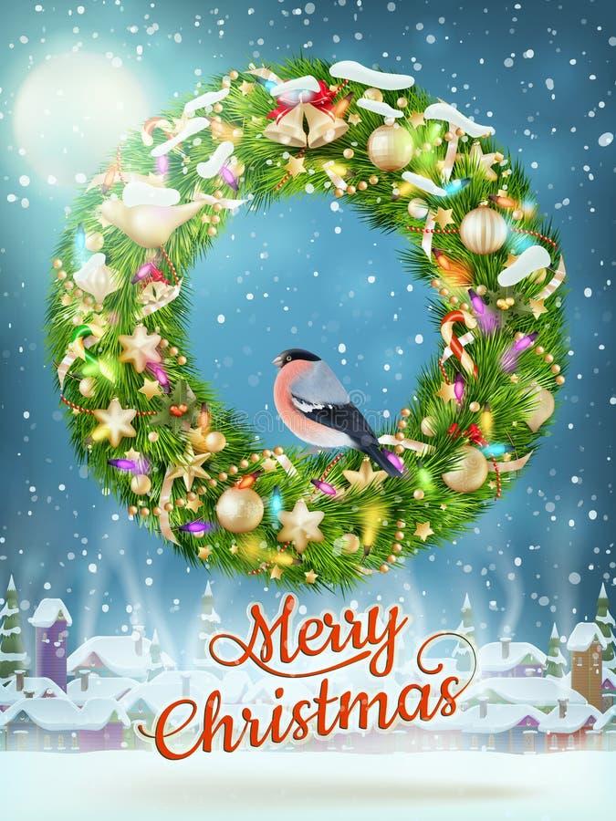 Julgirland med struntsaker 10 eps stock illustrationer
