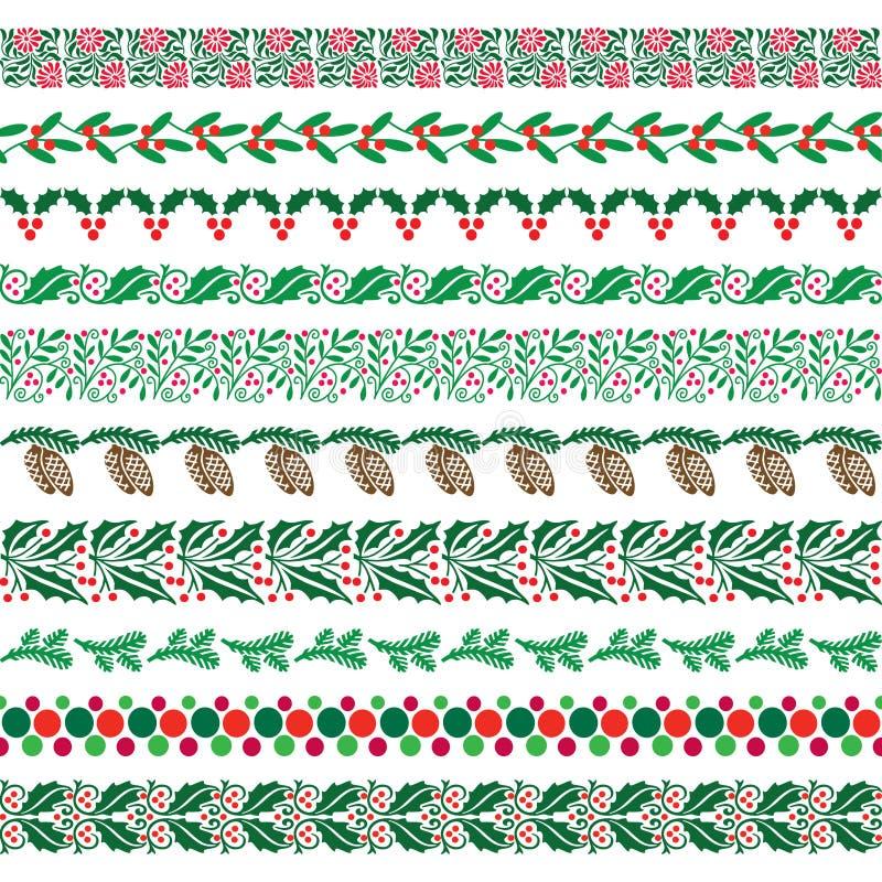 Julgränsmodeller stock illustrationer