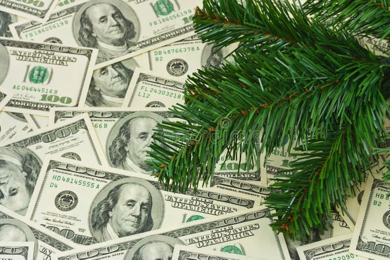 Download Julgran och pengar arkivfoto. Bild av papper, gåva, nytt - 27280166