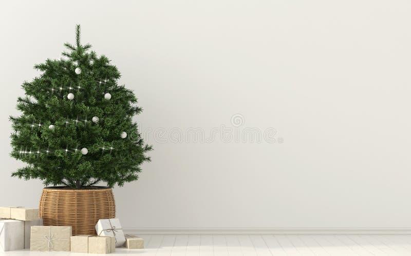 Julgran och presents vektor illustrationer