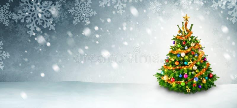 Download Julgran- och snowbakgrund fotografering för bildbyråer. Bild av gran - 78727131