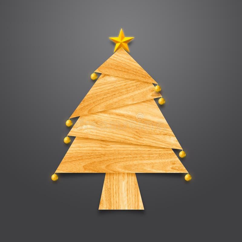 Julgran som göras från trä vektor illustrationer