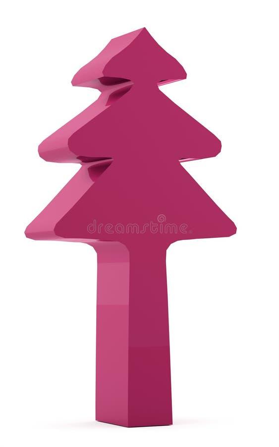 Julgranabstrakt begrepp som framförs som isoleras på vit bakgrund royaltyfri illustrationer