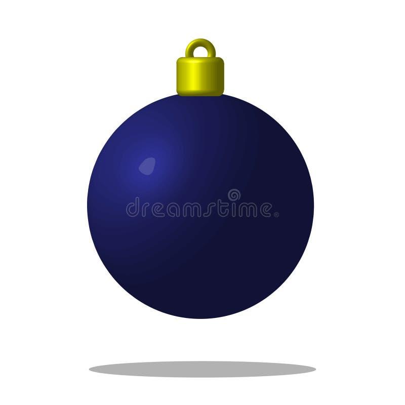 Julgranblåttboll Xmas-leksak redigerbart vektor illustrationer