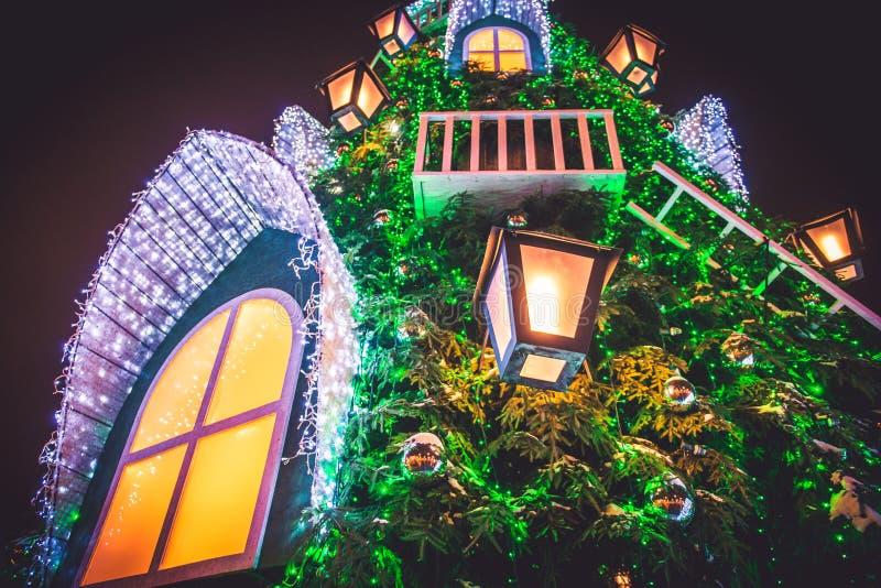 Julgrancloseup fotografering för bildbyråer