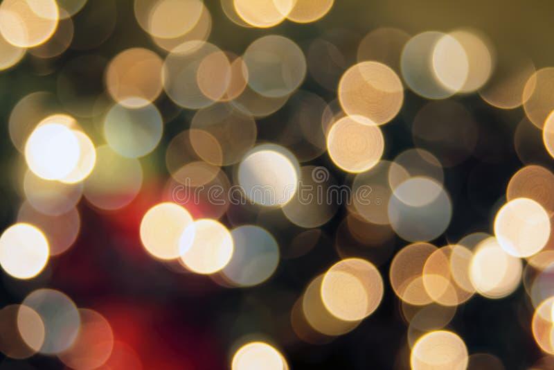 Julgranen tänder Bokeh bakgrund royaltyfri fotografi