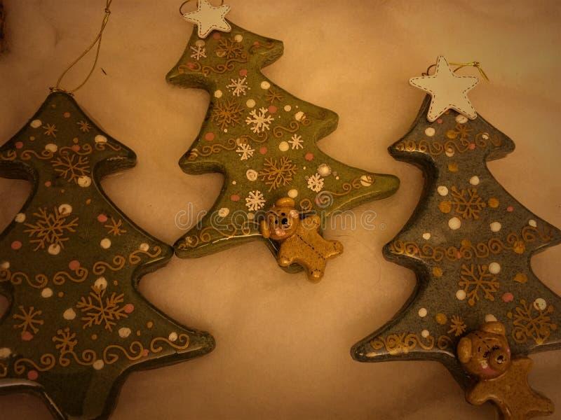 Julgranens prydnadsföremål arkivfoton