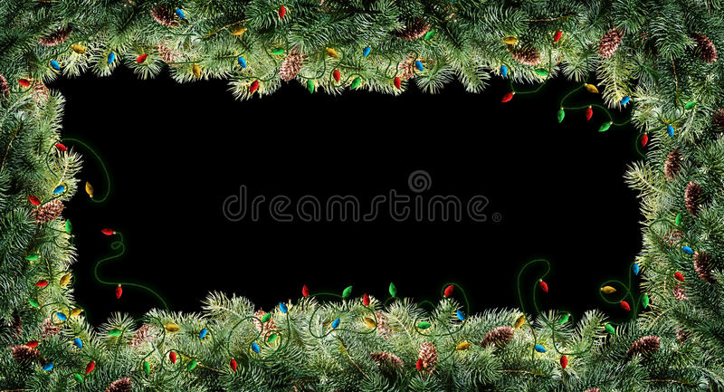 Julgranfilialer royaltyfria bilder