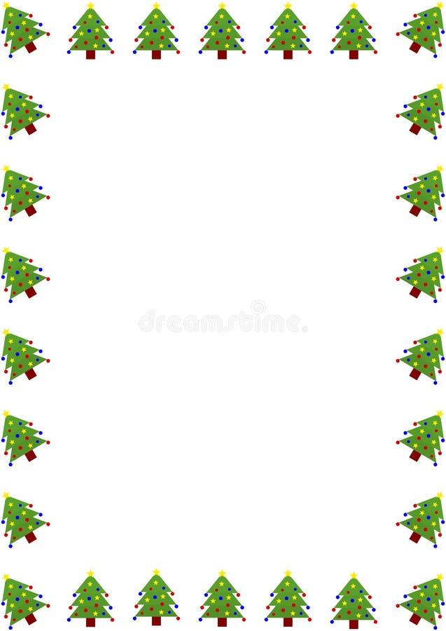 Julgrangräns stock illustrationer