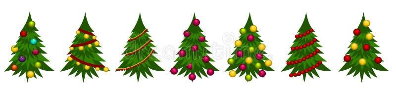 Julgranillustrationbakgrund stock illustrationer