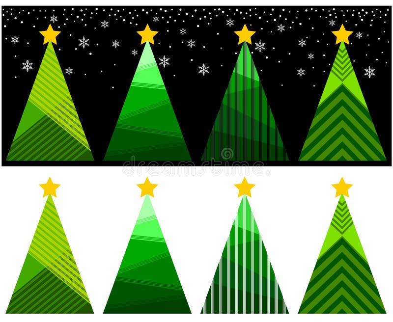 Julgranillustrationbakgrund vektor illustrationer