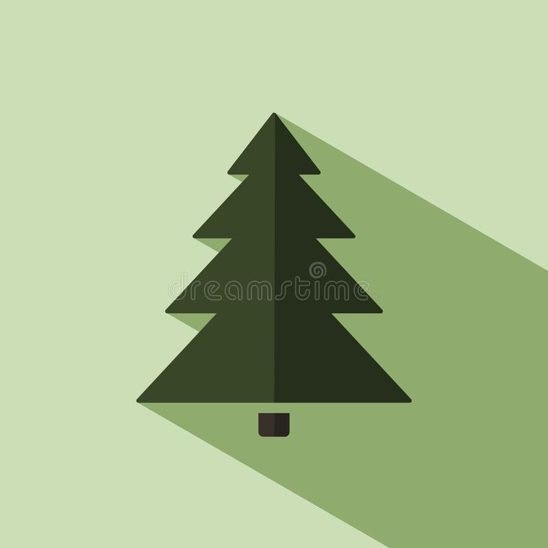 Julgransymbol med skugga vektor illustrationer