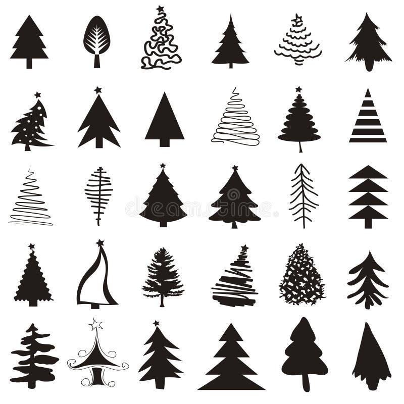 Julgransymbolsuppsättning royaltyfri illustrationer