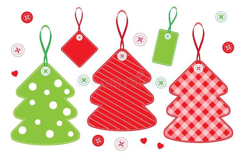 Julgranuppsättning 1 royaltyfri illustrationer