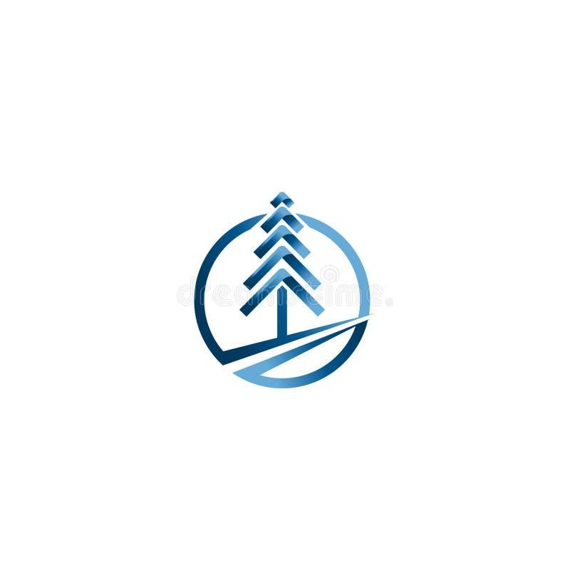 Julgranvektorer Idérik mall för vektor för jullogodesign Idé för teknologiträdlogo stock illustrationer