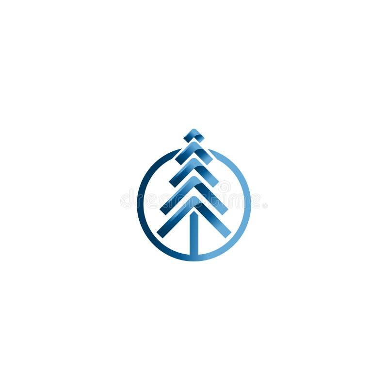 Julgranvektorer Idérik mall för vektor för jullogodesign Idé för teknologiträdlogo royaltyfri illustrationer
