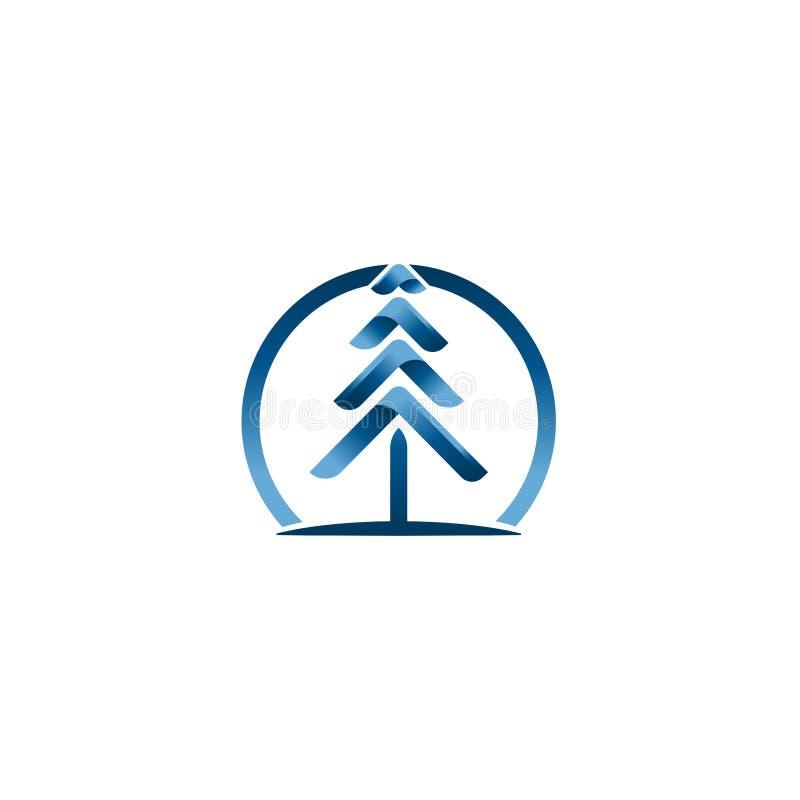 Julgranvektorer Idérik mall för vektor för jullogodesign Idé för teknologiträdlogo vektor illustrationer