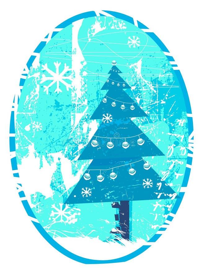 julgrungetree vektor illustrationer