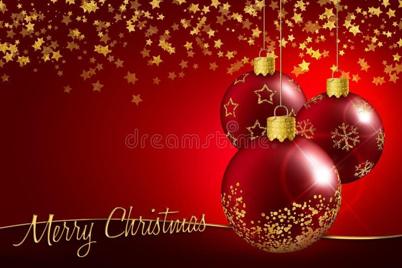 Julhälsningkort royaltyfri illustrationer