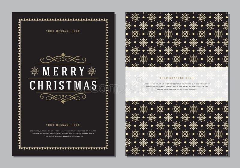 Julhälsningkort eller affischdesignmall vektor illustrationer