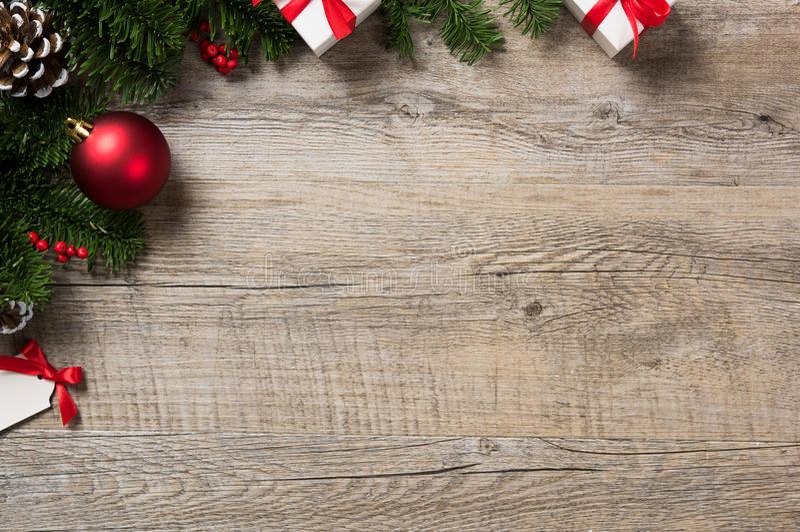 Julhörnbakgrund fotografering för bildbyråer