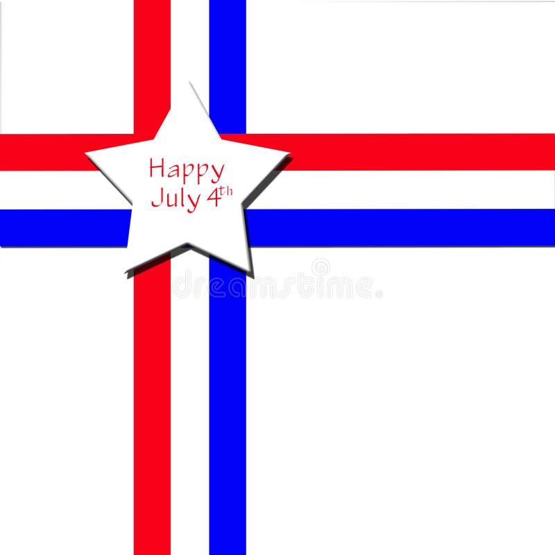 Julho feliz ô ilustração royalty free