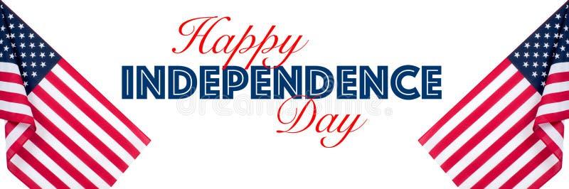 ? Julho Os EUA comemoram o Dia da Independ?ncia Estados Unidos embandeiram fotografia de stock
