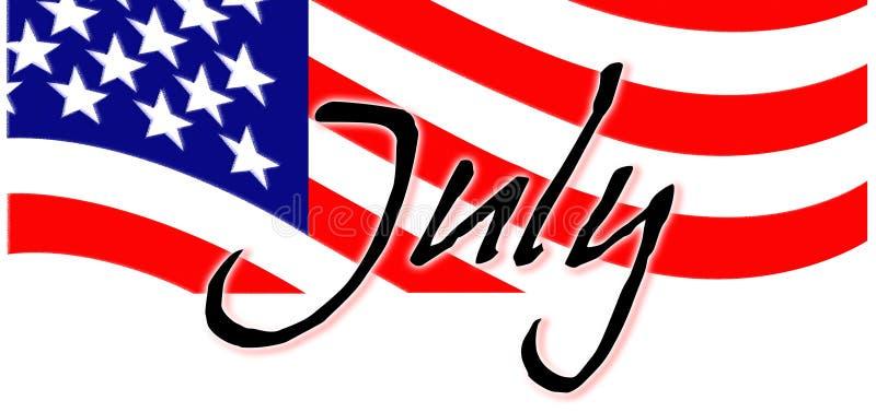 Julho patriótico ilustração royalty free