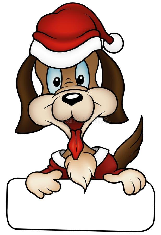 julhund stock illustrationer