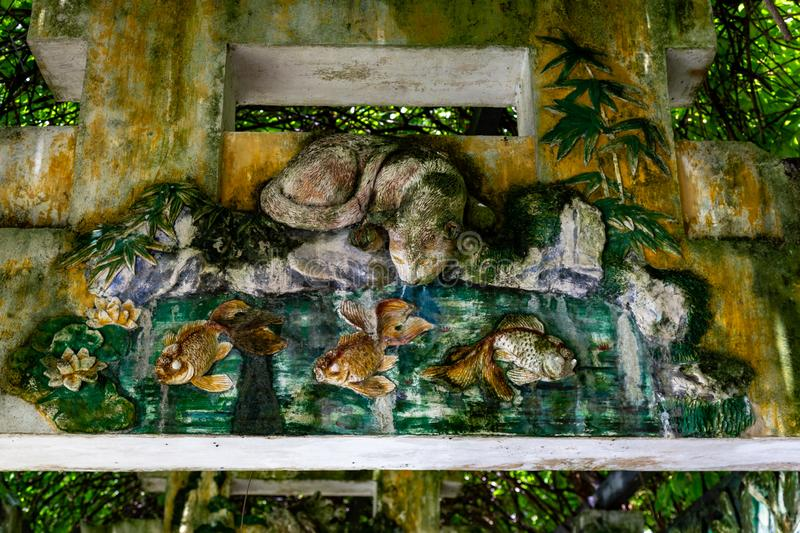 "Juli 2017 †""†Kaipings, China ""schöne chinesische Art Carvings in einem bedeckten Torbogen im Gartenkomplex Kaipings Diaolou L lizenzfreie stockfotografie"