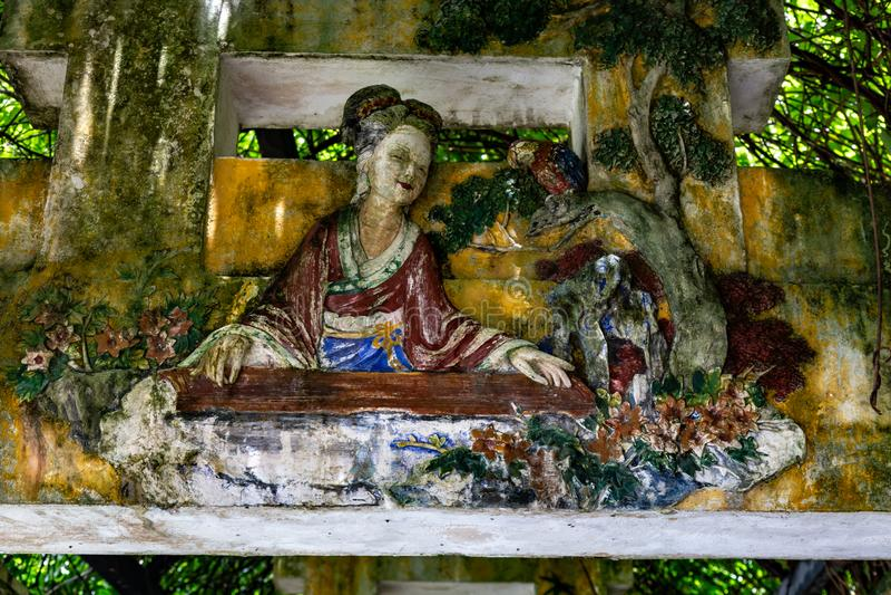 "Juli 2017 †""†Kaipings, China ""schöne chinesische Art Carvings in einem bedeckten Torbogen im Gartenkomplex Kaipings Diaolou L lizenzfreie stockfotos"