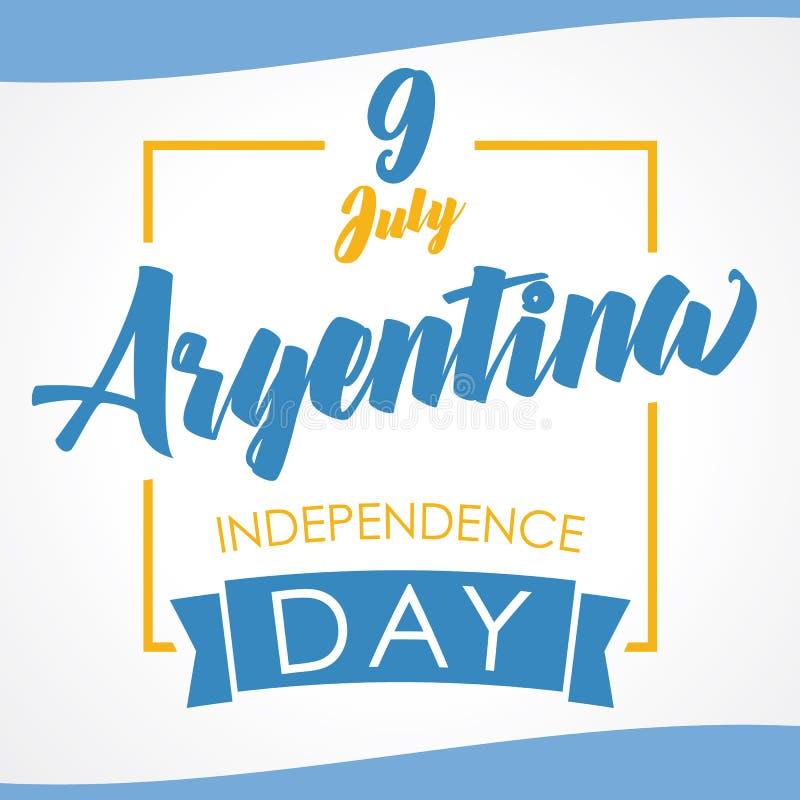 9 Juli, Argentina självständighetsdagenbaner i nationsflaggafärg vektor illustrationer