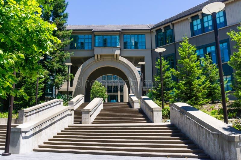 13 juli, 2019 Berkeley/CA/de V.S. - de Bedrijfsschoolbibliotheek bij Universiteit van Californië, Berkeley royalty-vrije stock foto