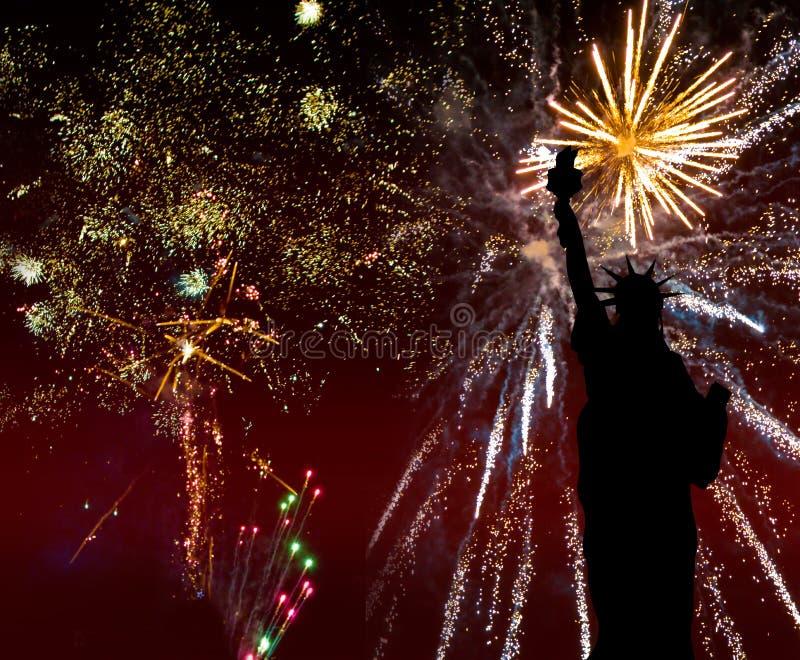 4. Juli Feuerwerke lizenzfreie abbildung