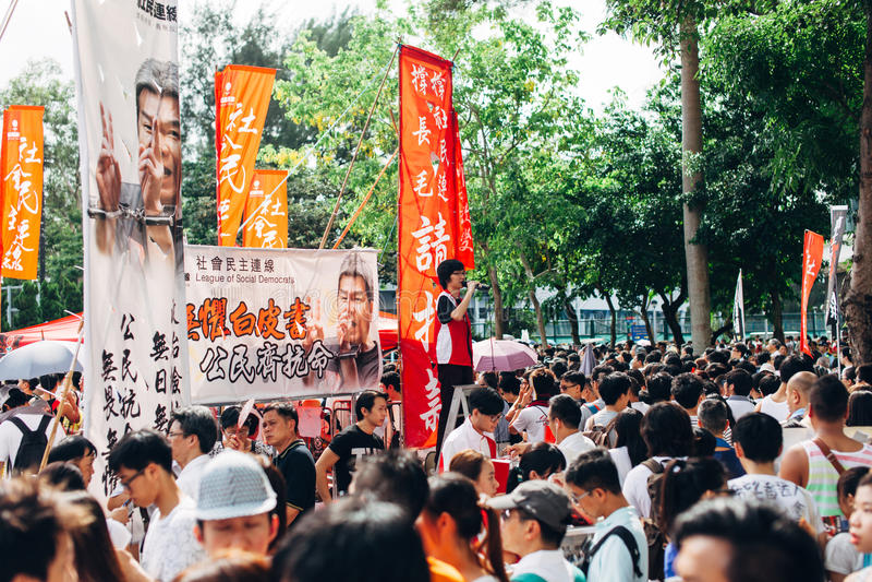 1 Juli 2014 protest royaltyfria foton