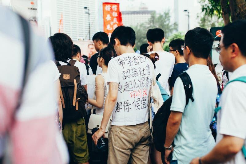 1 Juli 2014 protest arkivbild