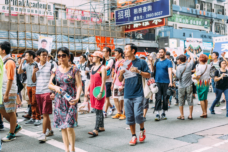 1 Juli-protest in Hong Kong royalty-vrije stock afbeeldingen