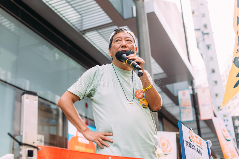 1 Juli-protest in Hong Kong royalty-vrije stock fotografie